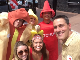 Because everyone needs a shot with ketchup and mustard
